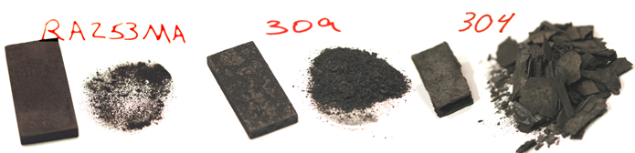 RA 253 MA Oxidation Resistance Compared to 309 and 304